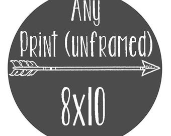 Any Print - Size 8x10 - Unframed