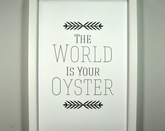 The World is your Oyster - Framed Print