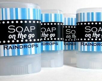 Raindrops Travel Soap, Twist up tube, light fresh aroma
