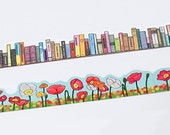 yano design Die Cut Washi Masking Tape - Books / Poppies