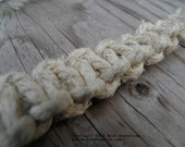 Square Knot Hemp Necklace with Polymer Clay Bead (11 in.) (One of a Kind)