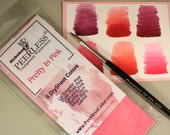 Peerless Watercolors~ Pretty in Pink Watercolor Set~6 Watercolor sheets~Full Size Sheets~Complete New Set~Watercolor Paints~Painting
