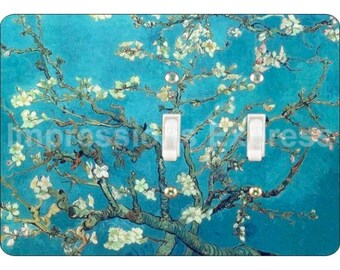 Almond Branches Van Gogh Painting Double Toggle Light Switch Plate Cover