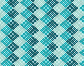 Blue Checkers Indie Chic Fabric - Riley Blake