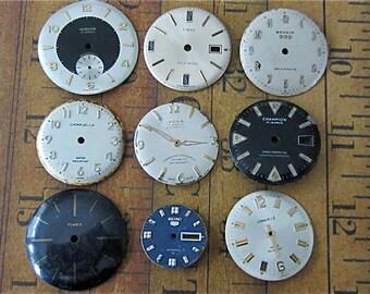 Watch Faces - Featured - Vintage Antique Watch faces -  Assortment Faces - Steampunk - Scrapbooking D34