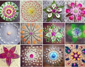 Seasons Mandala Postcard Set - 12 Mixed Media Art Cards by Faith Evans-Sills