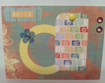 Retro Camera Smile Encouragement Card