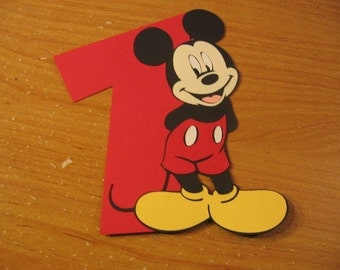 mickey mouse with number one