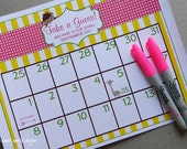 Printable Due Date Calendar  // Baby Shower Game // Guess the Date