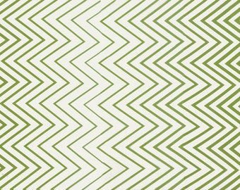 SUMMER SALE - 2 7/8 Yards - Simply Style - Zig Zag Ombre in Lime Green - 10813-17 - by V and Co for Moda Fabrics