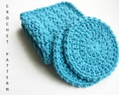 Crochet Washcloth Crochet Pattern DIY Gift Spa Party Dish Scrubbies Cotton Washcloth Baby Washcloth Diy Craft - 2 for 1 - INSTANT DOWNLOAD