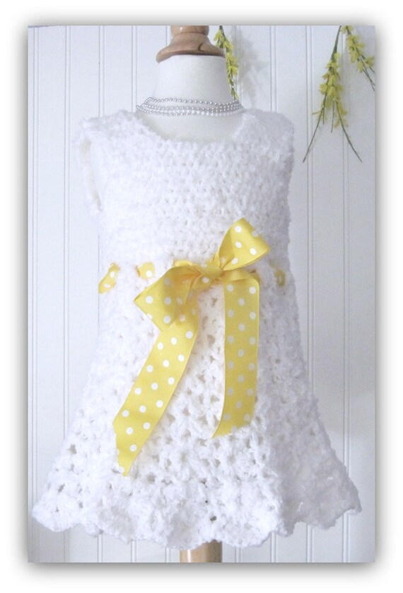 Crochet Pattern Miss Priss Tea Party Dress Child 2, 4 and 6
