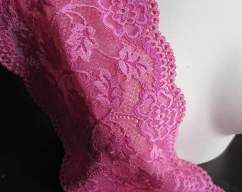 Fuchsia Stretch Lace Eurpoean for Lingerie, Bridal, Garments, Headbands STR 6003