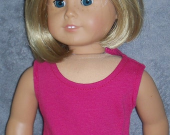 18 inch Doll Raspberry Pink Sleeveless Scoop-Neck Tee shirt