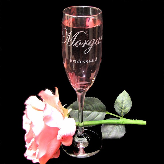 wedding party gifts personalized toasting flutes bridesmaid gifts
