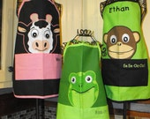 Personalized Childrens Apron  Your Choice of Animal Designs