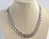 Sperry Silver Mesh Link Necklace - Fluid Silky Movement