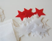 vellum paper stars, set of 20
