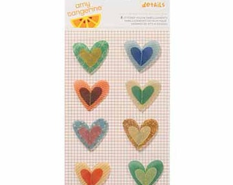 Amy Tangerine - Details- Stitched Vellum Embellishment - American Crafts
