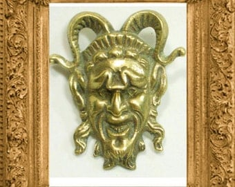 Vintage BIZARRE DEVIL Mythology BROOCH