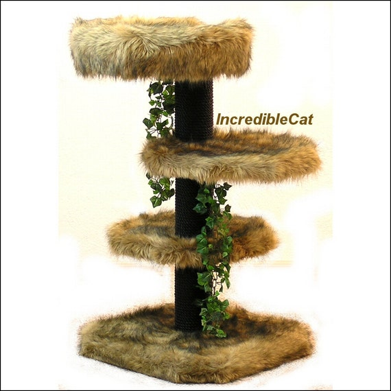 Senior cat tree 3 39 high glenwood best cat bed designer for Designer cat beds uk