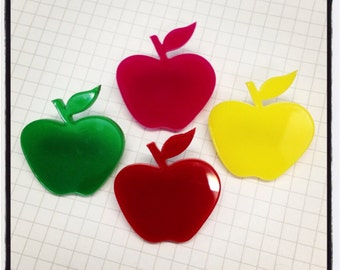 Apple - Laser Cut Acrylic Brooch