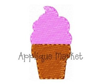 Machine Embroidery Design Embroidery Ice Cream Mini INSTANT DOWNLOAD