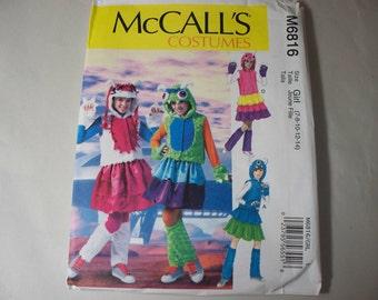 New McCall's Girls' Costume Pattern M6816 (7-8-10-12-14) (Free US Shipping)