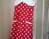 Custom Red Polka Dot dress