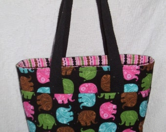 March of the Elephants Corduroy Tote Bag!!