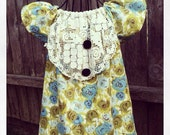 Girls  Blouse. with Vintage Lace 3T