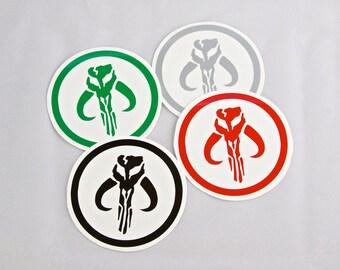 Star Wars Mandalorian Logo Roller Derby Helmet Vinyl Sticker / Vinyl Decal