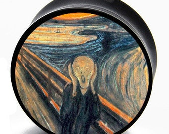 "5/8"" (16mm) Edvard Munch ""The Scream"" Power Plugs Pair"