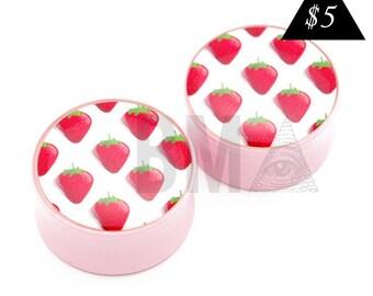00g (9.5mm) Strawberries BMA Plugs Single Flare Pair