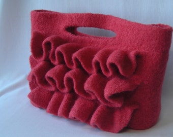 Knitting Pattern PDF Download - Felted Wool Nashville Bag - purse handbag clutch - permission to resell - free tutorial for fabric lining