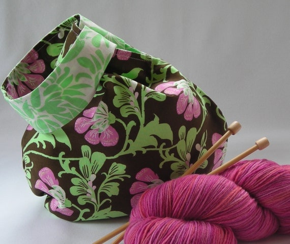 Amy Butler Knitting Bag Pattern : Project Bag knitting crochet Amy Butler Midwest Daisy