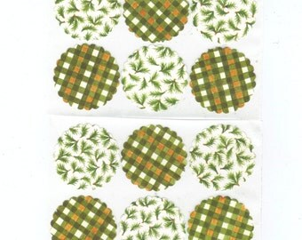 Fall Themed Scallop Envelope Seals Stickers (12) 1.5 inch