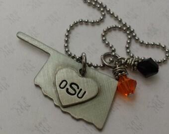 OSU Cowboys Oklahoma necklace