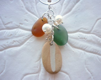 Sea Glass Necklace Jewelry Beach Seaglass Pottery