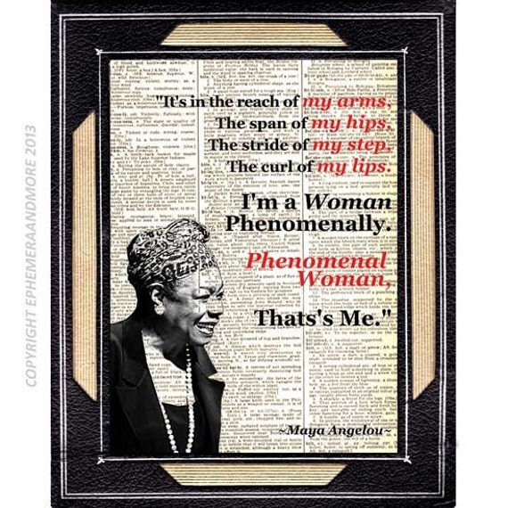 an analysis of the phenomenal women by maya angelou