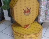 Knox hat box for fedora display octagonal shape  ONE