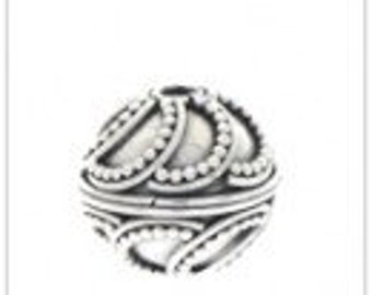 Sterling Silver Bead Bali Handmade-10mm