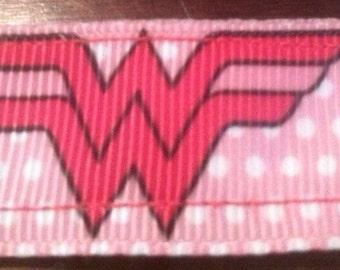 Pink Wonder woman No-slip Workout headband