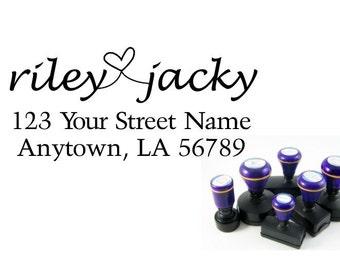 Personalized Self Inking Return Address Stamp - self inking address stamp - Custom Rubber Stamp R144