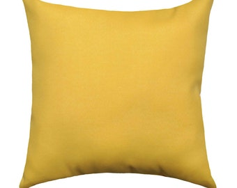 Yellow Throw Pillow - Solid Corn Yellow Decorative Pillow Free Shipping