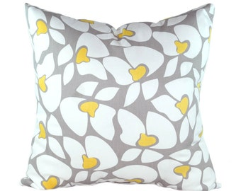 Premier Prints Helen Storm Gray and Yellow Decorative Throw Pillow - Free Shipping