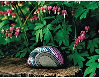 Botanical Greeting Cards Zen Art Bleeding Hearts Flowers Rock Art Snail Mail Photo Cards Nature Art Unique Art Cool Gifts for Friends