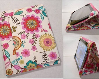 iPad Cover Hardcover Case, iPad 1, iPad 2, iPad 3, iPad 4 , iPad Mini,  Pink Flowers