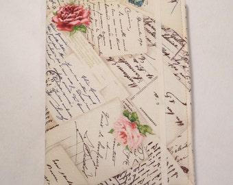 Kindle cover Hardcover, Kindle Paperwhite Cover, iPad Mini, Nook Tablet Cover,  Book Style, French Post