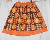 Girls Sun Flower Skirt with Your Choice of Trim Color